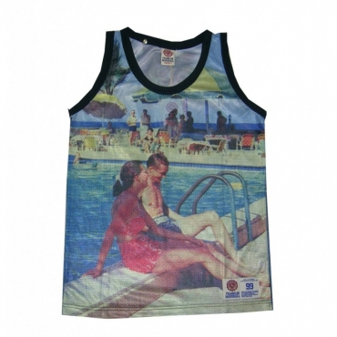 CANOTTA FRANKLIN  MARSHALL TANK TOP MESH RELAX All Over unico