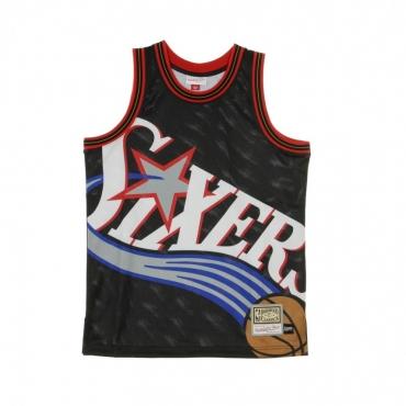 CANOTTA BASKET NBA BIG FACE JERSEY PHI76E ORIGINAL TEAM COLORS