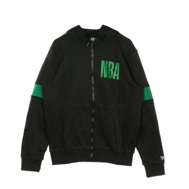 FELPA CAPPUCCIO ZIP NBA FULL ZIP HOODY BOSCEL BLACK/ORIGINAL TEAM COLORS