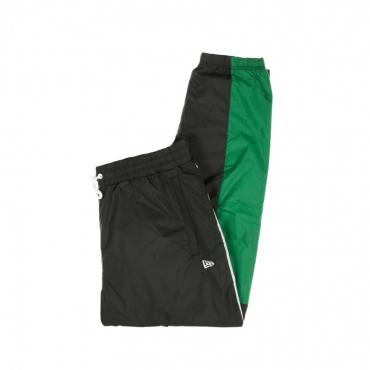 PANTALONE TUTA COLOUR BLOCK TRACK PANT NEW ERA BLACK/WHITE/KELLY GREEN