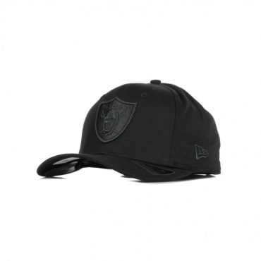 CAPPELLINO VISIERA CURVA NFL TONAL BLACK 950 STRETCH SNAP OAKRAI BLACK/BLACK