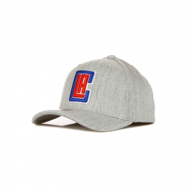 CAPPELLINO VISIERA CURVA NBA TEAM HEATHER REDLINE CLASSIC STRETCH SNAPBACK LOSCLI GREY HEATHER/ORIGINAL TEAM COLORS