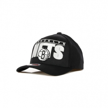 CAPPELLINO VISIERA CURVA NBA BILLBOARD REDLINE CLASSIC STRETCH SNAPBACK BRONET BLACK/ORIGINAL TEAM COLORS