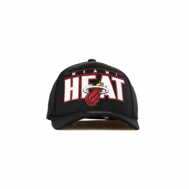 CAPPELLINO VISIERA CURVA NBA BILLBOARD REDLINE CLASSIC STRETCH SNAPBACK MIAHEA BLACK/ORIGINAL TEAM COLORS