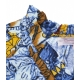 Tunica con stampa all-over blu