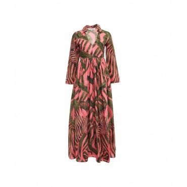 Maxi abito con stampa pink