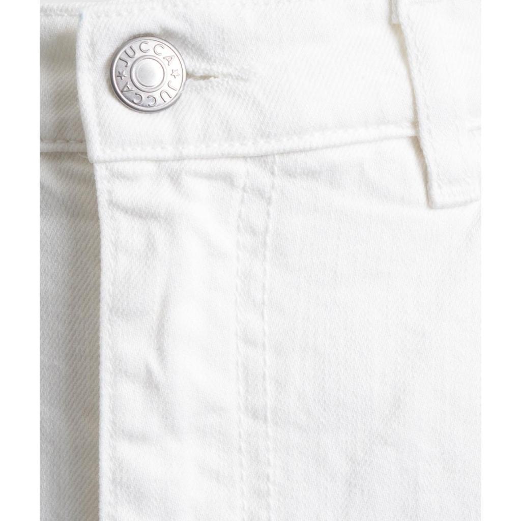 Gonna midi in jeans bianco
