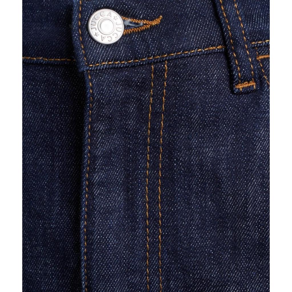 Gonna midi in jeans blu scuro