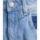 Jeans bermuda Lea blu