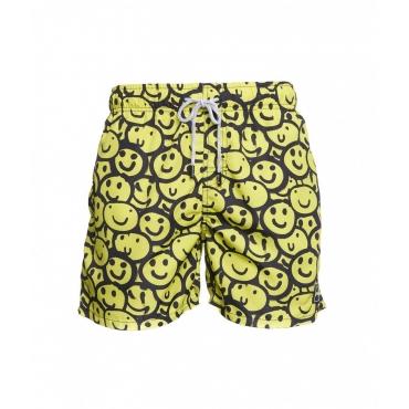 Pantaloncini da bagno con stampa giallo