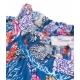 Maxi abito con stampa blu