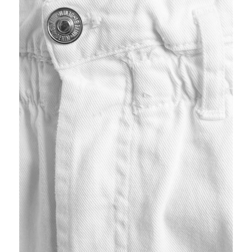 Jeans Ruffle Denim bianco