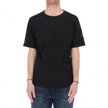 Tshirt Calvin Klein Jeans Uomo Monogram Sleeve Badge BAE CK BLACK