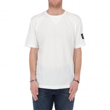 Tshirt Calvin Klein Jeans Uomo Monogram Sleeve Badge YAF BRIGHT WHITE