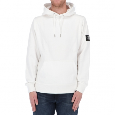 Felpa Calvin Klein Jeans Uomo Monogram Sleeve Badge YAF BRIGHT WHITE