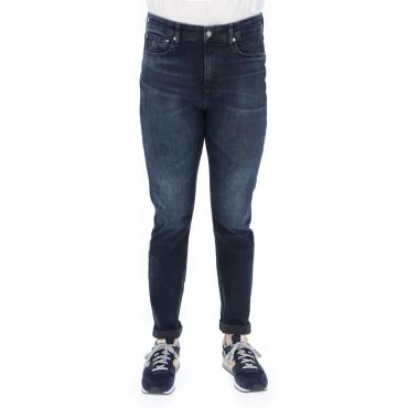Jeans Clavin Klein Jeans Uomo Slim Taper Denim L 32 1BJ DENIM DARK
