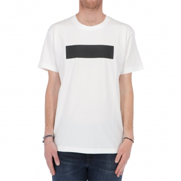 Tshirt Calvin Klein Jeans Uomo Blocking Logo Tee YAF BRIGHT WHITE