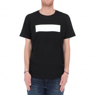 Tshirt Calvin Klein Jeans Uomo Blocking Logo Tee BEH CK BLACK