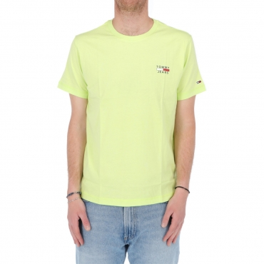 Tshirt Tommy Hilfiger Jeans Uomo Chest Logo Tee LT3 FADED LIME