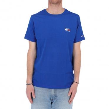 Tshirt Tommy Hilfiger Jeans Uomo Chest Logo Tee C65 COBALT