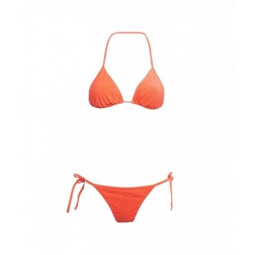 Bikini triangolo e slip laccetto rosso