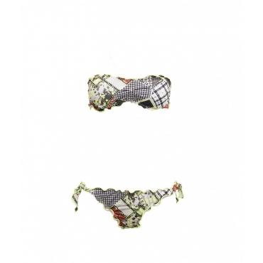 Bikini fascia e slip brasiliano verde