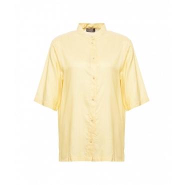 Camicia con lurex giallo