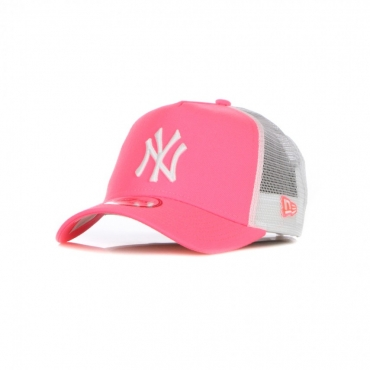 CAPPELLINO VISIERA CURVA UOMO MLB TONAL MESH TRUCKER NEYYAN FLUO PINK/WHITE