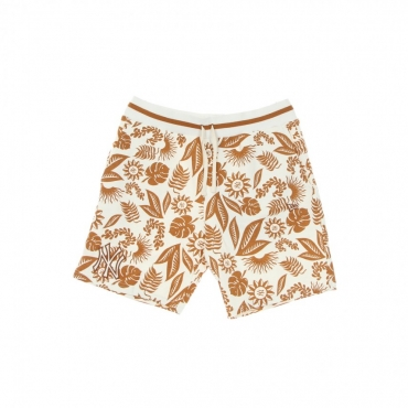 PANTALONE CORTO UOMO MLB FLORAL ALL OVER PRINT SHORT NEYYAN OFF WHITE/TOFFEE