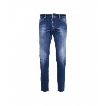 Cool Guy Cropped Jean blu