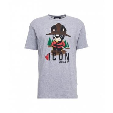 T-shirt con stampa grigio