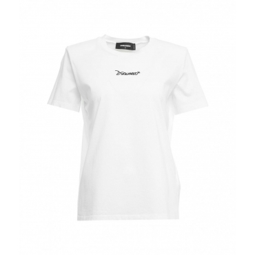 T-shirt con spalle imbottite bianco