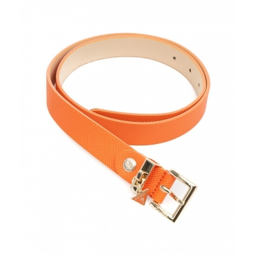 Cintura con ciondolo con logo arancione