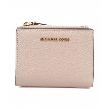 Mini portafoglio rosa chiaro