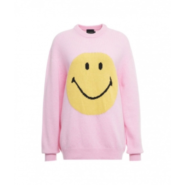 Sweater Smiley rosa