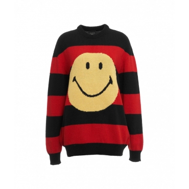 Sweater Smiley rosso