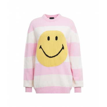 Sweater Smiley pink