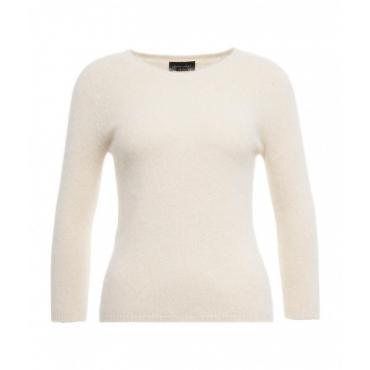 Maglione in maglia leggera crema