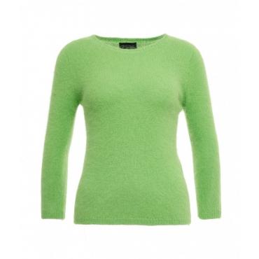 Maglione in maglia leggera verde