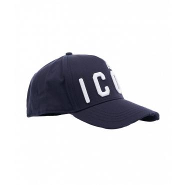 Baseball cap con logo blu scuro