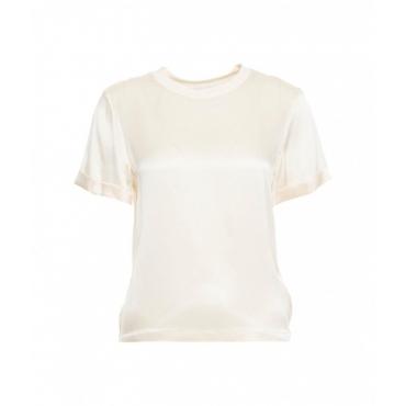 Maglietta in seta crema