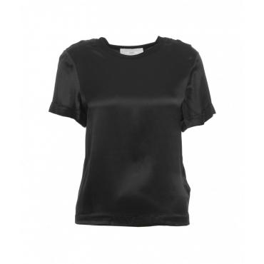 Maglietta in seta nero