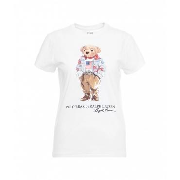 Maglietta con logo dellorsacchiotto bianco
