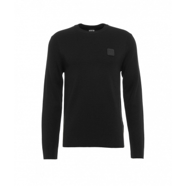 Maglione con patch logo staccabile nero