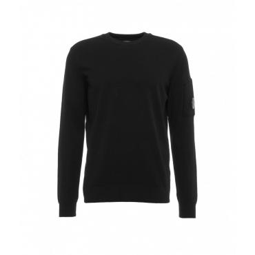 Maglione con toppa con logo nero