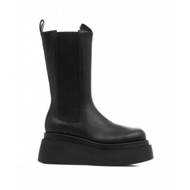 Stivali con tacco a piattaforma Enna nero