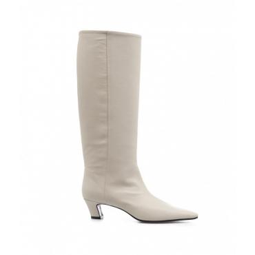 Stivali in pelle Macys bianco