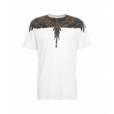 T-shirt Camou Wings Regular bianco