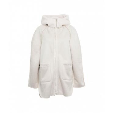 Cappotto Mulan con zip crema
