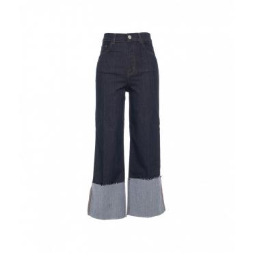 Jeans High Flare Flap blu